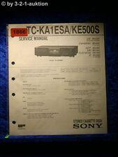 Sony Service Manual TC KA1ESA / KE500S Cassette Deck  (#1866)