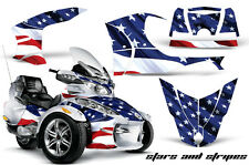 AMR Racing Can Am BRP RTS Spyder Graphic Kit Wrap Street Bike Decal USA FLAG