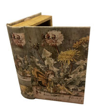 Medieval Fairy Secret Storage Book Box Stash Box Faux Leather Over Wood