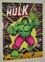Original 1978 Marvel Comics 24 x 18 Hulk poster 1: Romita art/1970's Marvelmania