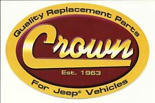"Crown Sticker Decal 6""x4""...Jeep Off Road 4X4 CJ7 CJ5 Tool Box Four Wheel Drive"