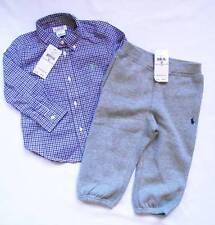 NEW Ralph Lauren Boys Smart Shirt Joggers Outfit Tracksuit Suit 12-18 m