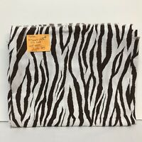 2010 Brother Sister Design Studio Fabric B31-VB-P11 Zebra Brown White 2 Yards