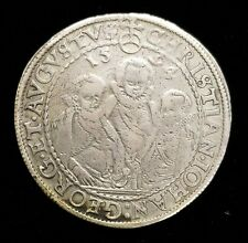 "1594 Germany Saxony One Thaler 1 Taler Silver Coin German ""Three 3 Brothers"" XF"