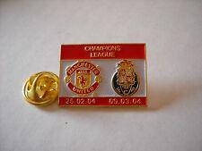 a1 PORTO - MANCH UTD cup uefa champions league 2004 spilla football pins