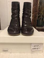 maison martin margiela boots 40 varnished leather wine color