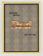 Blank Handmade Greeting Card ~ BIRTHDAY WISHES DAD JUST FOR YOU ~