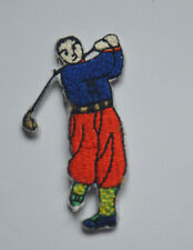 GOLFER GOLF GOLFING 6cm Embroidered Sew Iron On Cloth Patch Badge APPLIQUE