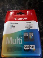 canon pixma multi 540 black 541 colour  ink cartridges