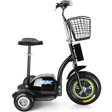 MotoTec Electric Trike 48v 500w Electric Stand -Electric Powered Ride-on-Toy 13+