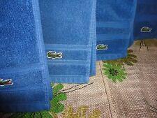 LACOSTE IZOD OCEAN BLUE CROCODILE (4PC) HAND & BATH TOWELS