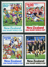 New Zealand 1054-1057, MI 1197-1200, MNH. Rugby World Cup, 1991