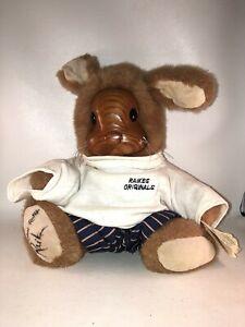 "Raikes Bunny Bear 1990 Wooden Signed Vincent JR 11"""