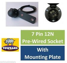 7 Pin Pre Wired Single Socket 2mtr 12N With Socket Mounting Plate Trailer Towing
