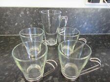 4 x new glass coffee/tea cups & 1 Liqueur long glass