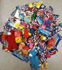 BULK ASSORTED PET DOG SQUEAKY CHEW ROPE BALL RUBBER FETCH TOYS X 10 DOG TOYS