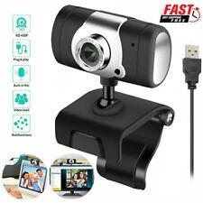 Webcam For PC Laptop Desktop US Auto Focusing Web Camera HD Cam with Microphone