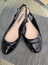 Black Patent Flat Sandals