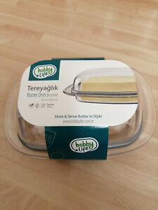 TRANSPARENT BUTTER DISH WITH LID