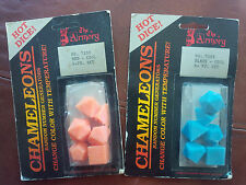 Armory dice Chameleons NEW IN BOX change color RARE