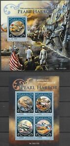 "SIERRA LEONE - 2016 MNH ""75th Anniv. Of Pearl HARBOR"" Two Souvenir Sheets !!!"