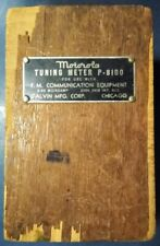 Vintage Motorola Tuning Meter P-8100 FM Communication Equipment Wood Box 1940's