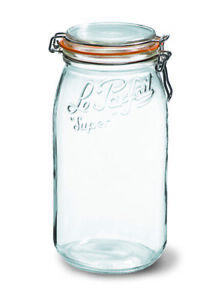 Le Parfait Preserve Jar 3000ml perfect for storage - Orange Rubber ring included