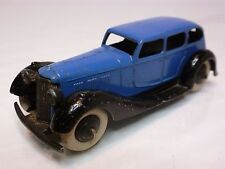 DINKY TOYS 36A ARMSTRONG SIDDELEY  - BLUE + BLACK 1:43 - GOOD CONDITION