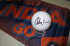 Ravichandran Ashwin (India) signed White Leather Cricket Ball + COA & proof