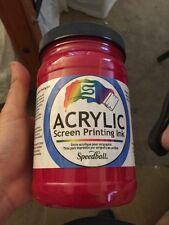 Speedball 46411 Acrylic Screen Printing Ink 32oz Process Magenta Paint