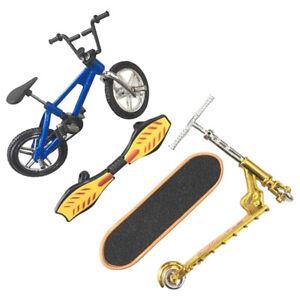 4 PC Mini Finger-Fahrrad-Skateboard Fahrrad Skateboard Scooter Spielzeug Set