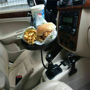 Black Car Table Cup Holder Drink Coffee Bottle Organizer Accessories Food Tray