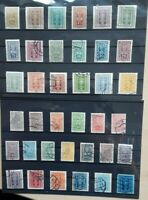 Austria 1922 - Pincers & Hammer  37 used stamps SG461-494 and SGS496-498  CV £35