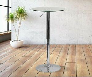 Flash Furniture Chrome Base Glass Top