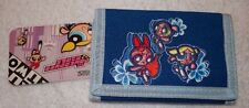 NEW WITH TAGS BLUE  POWERPUFF GIRLS TRIFOLD   WALLET