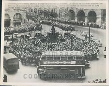 1952 Traffic at Standstill 2 Minutes Silence For Dead King London  Press Photo