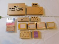 Lot of Misc Wood Mount Stamp Set includes 12 rubber stamps Scrapbooking Tags Fra