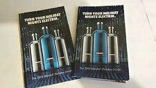 Lot of TWO Absolut Electrik Vodka recipe booklets.