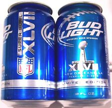 Bud Light Super Bowl 47 XLVII beer 2012 NFL Limited Edition 12oz can empty BotOp