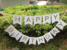 String Banner Hanging Bunting Flag Happy Birthday Party Paper DIY Home Décor