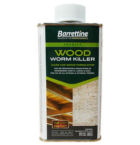 Barrettine Universal Fast Woodworm Killer Clear Low odour solvent based 250ml