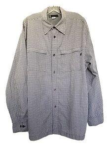 Redsand Outdoor Mens Shirt Size XL Button Front Long Sleeve 3-Zip Pockets