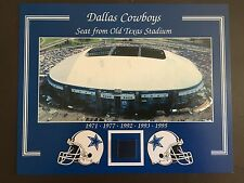 DALLAS COWBOYS OLD TEXAS STADIUM SEAT 8 X 10 COA