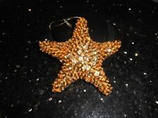 GLITTER GOLD STAR 11x11cm Christmas Tree Decoration Toy - SUPERB Condition