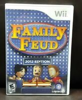 Family Feud 2012  - Nintendo Wii Game Complete 1 Owner Mint Disc
