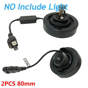 2x 80mm Rubber Car LED HID Headlight Light Housing Extended Seal Cap Dust Cover