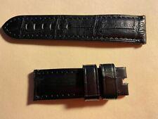 Panerai New Original Black Croc Leather Strap 24MM fits the 44mm Panerai Watch