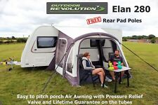 Outdoor Revolution Elan 280 - Improved 2018 Model -  With FREE Rear Pad Poles