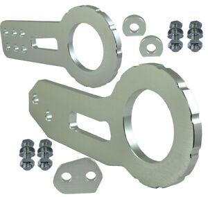 "JDM 2"" Billet Aluminum Racing Front Rear Tow Hook Kit CNC Anodized Silver Q511"