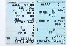 Letraset frotar en carta transferencias futura extra negrita condensada 72 pinta (#2683) 1973